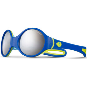 Julbo Loop Spectron 4 Sunglasses 2-4Y Kids, blue/sky blue/green-gray flash silver